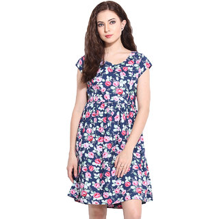 Paprika Multicolor Printed A Line Dress For Women