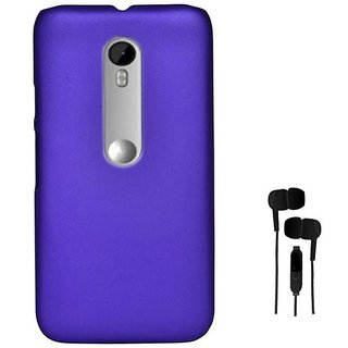 ClickAway   Purple  Stylish Rubberized Plastic Back Cover For Moto G (3Rd Gener