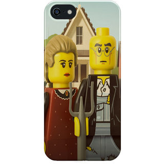 The Fappy Store American-Gothic Printed Back cover for iphone 5