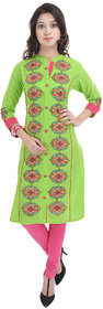MAYMAR Casual Womens Kurti Green