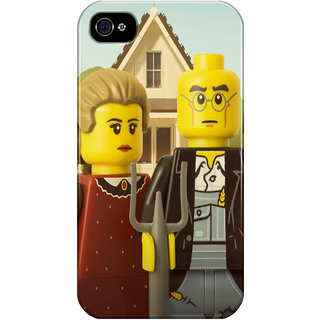 The Fappy Store American-Gothic Printed Back Cover For Iphone 4