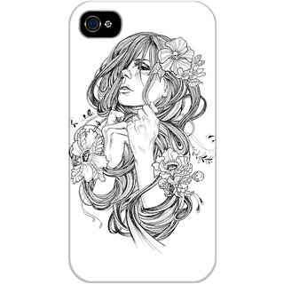 The Fappy Store From-A-Tangled-Dream Printed Back Cover For Iphone 4