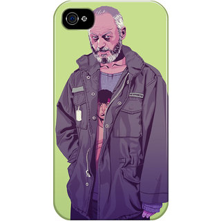 The Fappy Store Game-Of-Throne-Davos-Seaworth Printed Back Cover For Iphone 4