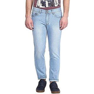 Fanatic Fashion Men's Washed Regular Fit Blue Jeans