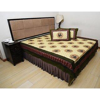 Bohomandala Classic One Double Bedsheet Set - Green