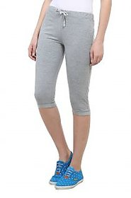 Vimal-Jonney Grey Melange Cotton Blend Trackpant For Women (F1MELANGE01)