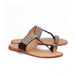 ead238ddbbf Buy Naughty Walk Women s Brown Ethnic Flats Online - Get 43% Off