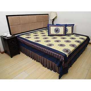 Bohomandala Classic One Double Bedsheet Set - Blue