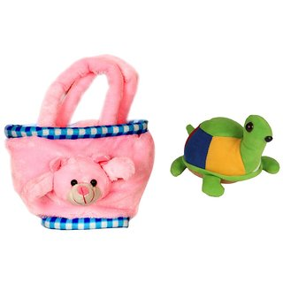 Deals India Teddy Bag and Tortoise combo