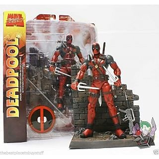 AZI Diamond Select Toys Marvel Select Deadpool Action Figure, Multi Color