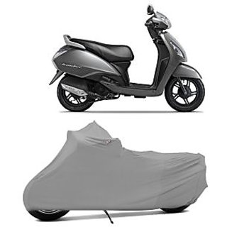 Superior Quality Bike Body Cover Silver Matte for TVS Jupiter