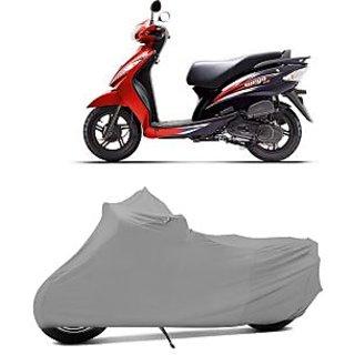 Superior Quality Bike Body Cover Silver Matte for TVS Wego