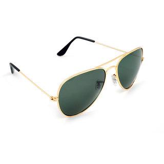 Prime Club Golden-Green Aviator Preminum Sunglass-Pcms-114