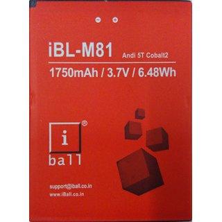 100 origional Battery For iBall iBL -M81 Andi 5T Cobalt2 1750mAh