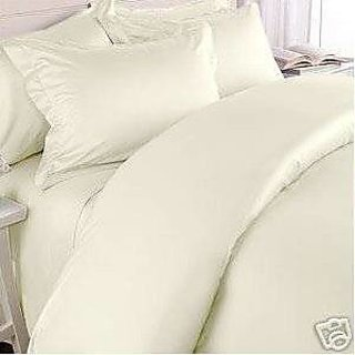 Classic Hotel Quality 1Pc Duvet Cover 800 Thread Count Queen 100 Pima Cotton Ivory Solid By Hothaat