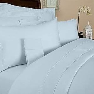 Classic Hotel Quality 1Pc Duvet Cover 400 Thread Count Single 100 Pima Cotton Blue Solid By Hothaat