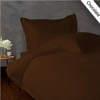 Classic Hotel Quality 1Pc Duvet Cover 1400 Thread Count Full 100 Egyptian Quality Chocolate Solid By Hothaat