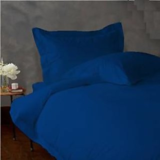 Classic Hotel Quality 1Pc Duvet Cover 1100 Thread Count Twin 100 Microfiber Polyester Royal Blue Solid By Hothaat
