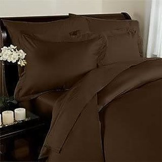 Classic Hotel Quality 1Pc Duvet Cover 400 Thread Count Queen 100 Egyptian Cotton Chocolate Solid By Hothaat