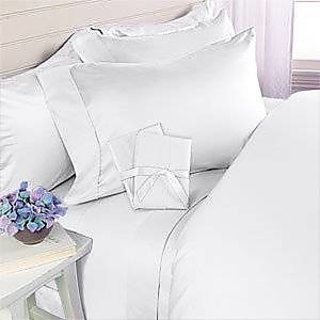 Classic Hotel Quality 1Pc Duvet Cover 300 Thread Count Queen 100 Pima Cotton White Solid By Hothaat