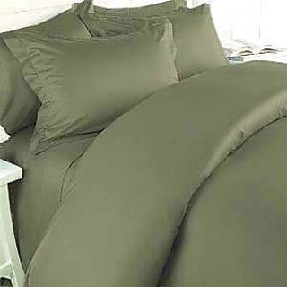 Classic Hotel Quality 1Pc Duvet Cover 300 Thread Count King 100 Pima Cotton Sage Solid By Hothaat