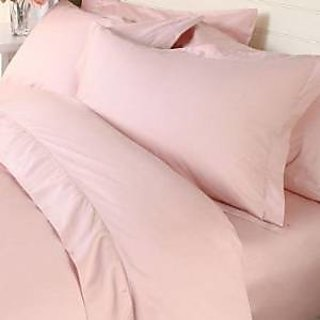 Classic Hotel Quality 1Pc Duvet Cover 300 Thread Count Queen 100 Pima Cotton Pink Solid By Hothaat