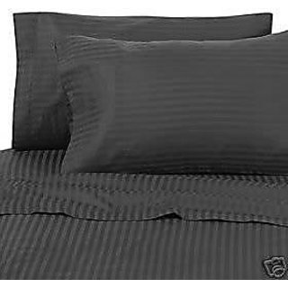 Classic Hotel Quality 1Pc Duvet Cover 400 Thread Count Single 100 Organic Cotton Black Stripe By Hothaat