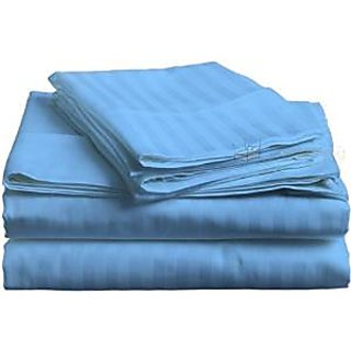 Classic Hotel Quality 1Pc Duvet Cover 400 Thread Count Queen 100 Pima Cotton Blue Stripe By Hothaat