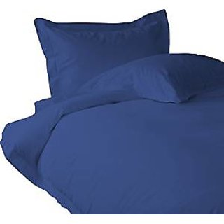 Classic Hotel Quality 1Pc Duvet Cover 1800 Thread Count Queen 100 Microfiber Polyester Navy Blue Solid By Hothaat