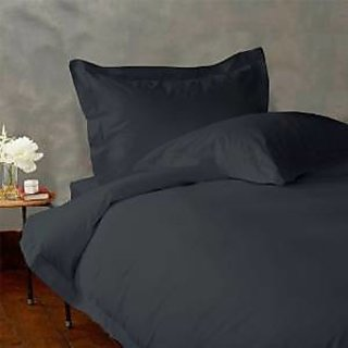 Classic Hotel Quality 1Pc Duvet Cover 400 Thread Count Queen 100 Organic Cotton Elephant Grey Solid By Hothaat