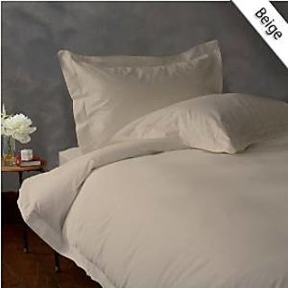 Classic Hotel Quality 1Pc Duvet Cover 2200 Thread Count Single 100 Microfiber Beige Solid By Hothaat