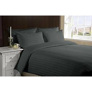 Classic Hotel Quality 1Pc Duvet Cover 300 Thread Count Single 100 Organic Cotton Elephant Grey Stripe By Hothaat