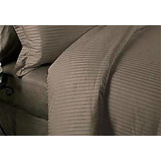Classic Hotel Quality 1Pc Duvet Cover 300 Thread Count King 100 Pima Cotton Taupe Stripe By Hothaat