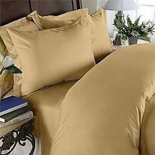 Classic Hotel Quality 1Pc Duvet Cover 400 Thread Count Single 100 Egyptian Cotton Gold Solid By Hothaat