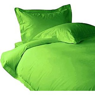 Classic Hotel Quality 1Pc Duvet Cover 1800 Thread Count Queen 100 Egyptian Quality Parrot Green Solid By Hothaat