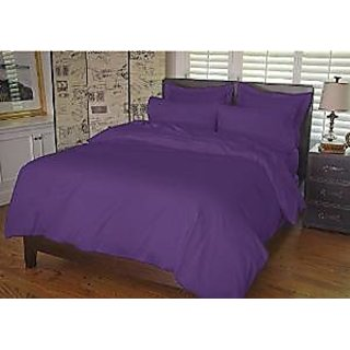 Classic Hotel Quality 1Pc Duvet Cover 300 Thread Count Queen 100 Pima Cotton Purple Solid By Hothaat
