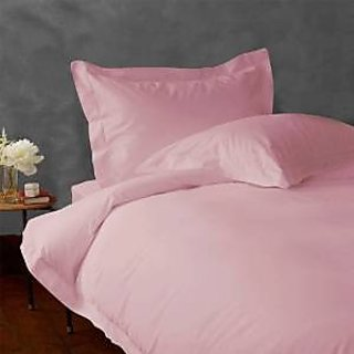 Classic Hotel Quality 1Pc Duvet Cover 2200 Thread Count Single 100 Microfiber Polyester Pink Solid By Hothaat