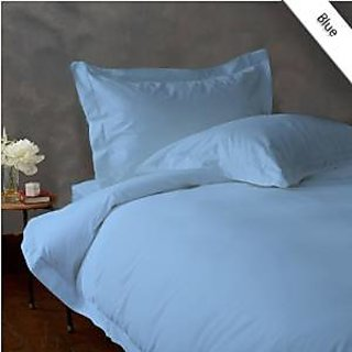 Classic Hotel Quality 1Pc Duvet Cover 2200 Thread Count Queen 100 Microfiber Blue Solid By Hothaat