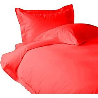 Classic Hotel Quality 1Pc Duvet Cover 2200 Thread Count Queen 100 Egyptian Quality Red Solid By Hothaat