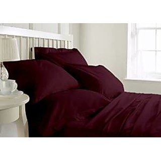 Classic Hotel Quality 1Pc Duvet Cover 300 Thread Count Single 100 Egyptian Cotton Wine Solid By Hothaat