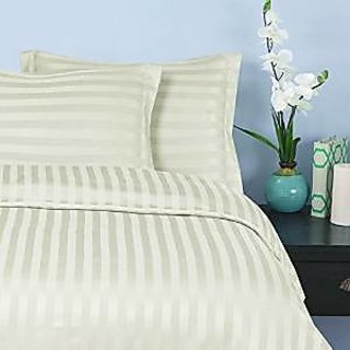 Classic Hotel Quality 1Pc Duvet Cover 400 Thread Count Queen 100 Egyptian Cotton Ivory Stripe By Hothaat
