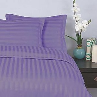 Classic Hotel Quality 1Pc Duvet Cover 400 Thread Count Queen 100 Organic Cotton Purple Stripe By Hothaat