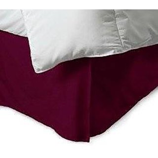 Super Soft And Elegant 1Pc Bed Skirt With 6 Drop Length 500 Thread Count King 100 Egyptian Cotton Wine Solid By Hothaat