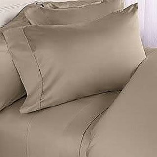 Super Soft And Elegant 4Pc Sheet Set 600 Thread Count Twin 100 Egyptian Cotton Taupe Solid By Hothaat