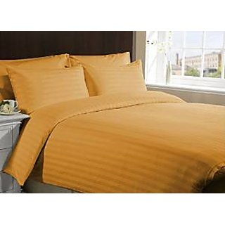 Super Soft And Elegant 4Pc Sheet Set 600 Thread Count Split Queen 100 Pima Cotton Gold Stripe By Hothaat