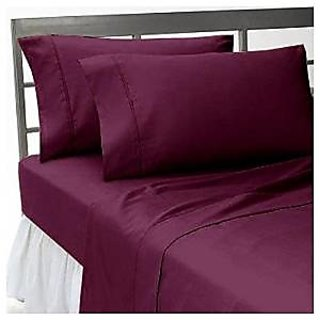 Super Soft And Elegant 4Pc Sheet Set 600 Thread Count Rv Camper Short Queen 100 Pima Cotton Wine Solid By Hothaat