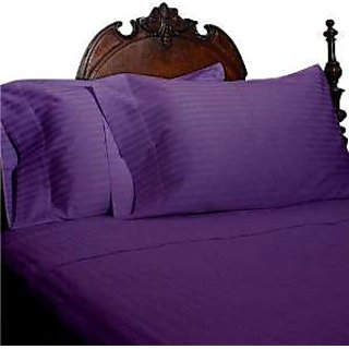 Super Soft And Elegant 4Pc Sheet Set 300 Thread Count Twin Xl 100 Egyptian Cotton Purple Stripe By Hothaat