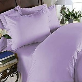 Super Soft And Elegant 4Pc Sheet Set 800 Thread Count Olympic Quen 100 Organic Cotton Liliac Solid By Hothaat