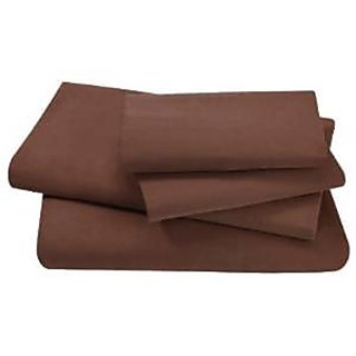 Super Soft And Elegant 4Pc Sheet Set 800 Thread Count Split Cal-King 100 Pima Cotton Chocolate Solid By Hothaat