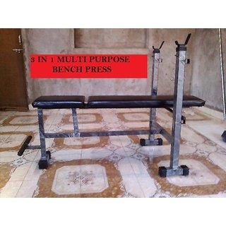 Body Maxx Multi Purpose 3 in 1 Bench Press Incline + Decline + Flat bench